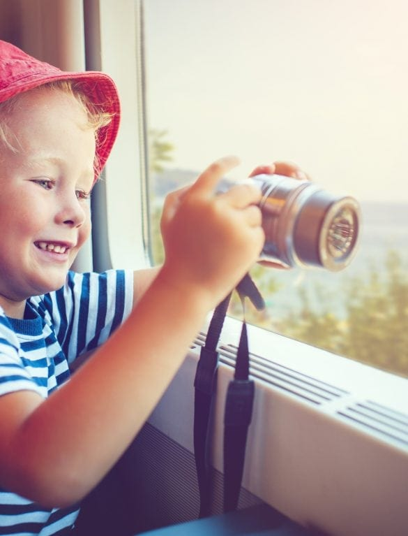 Child in train